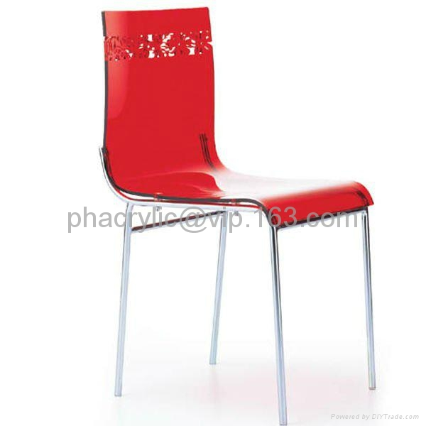 lucite transparent dining chair 2