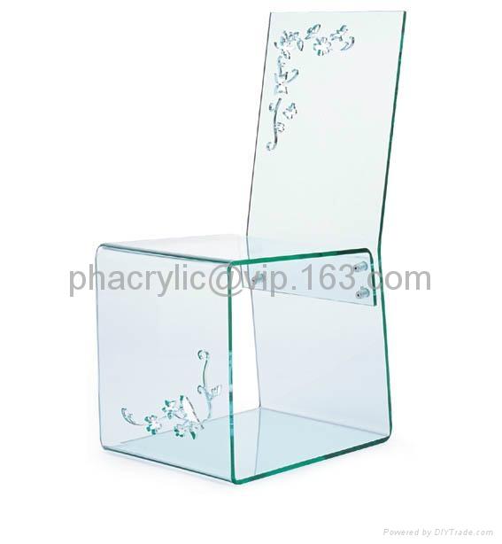 plexiglass dining chair  1