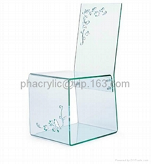 plexiglass dining chair