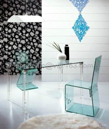 plexiglass dining chair  2
