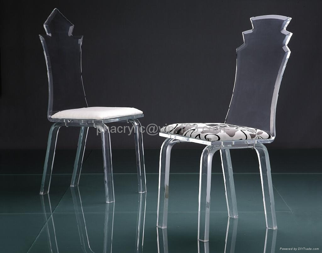 acrylic transparent dining chair  perpex glass lucite chair 1