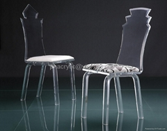 acrylic transparent dining chair  perpex glass lucite chair