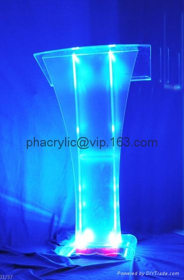 Perspex Glass Podium ,acrylic Pulpit Yjt526(a) Hong