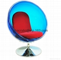 ACRYLIC BUBBLE ROTATING CHAIR