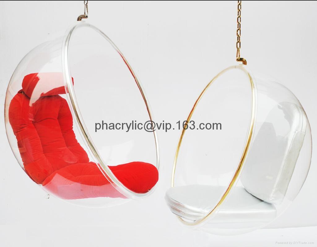 壓克力球形吊椅 2