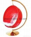 亞克力球形吊椅 2