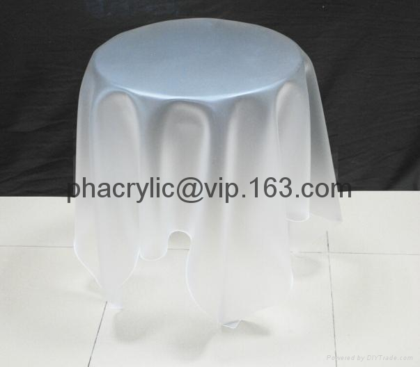 acrylic magic side table without leg 3