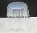 acrylic magic side table without leg