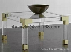 acrylic square coffee table with metal parts  (Hot Product - 1*)