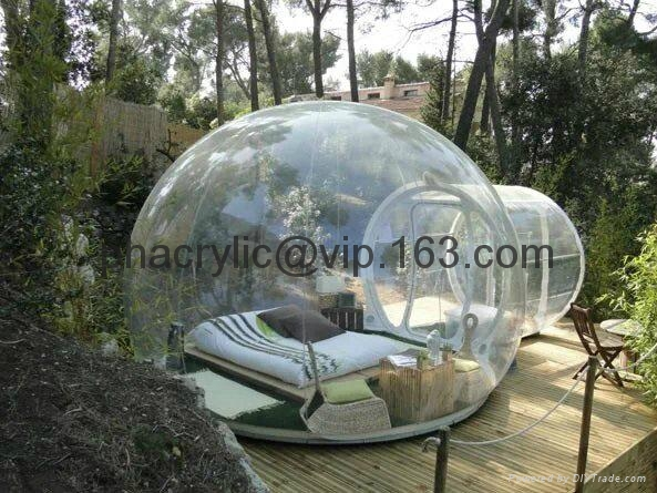 Outdoor Plexiglass Sphere House Hong Kong Manufacturer