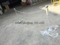 acrylic crastal barrier with chain