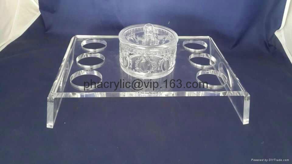 acrylic coffee and pot  tray display 1