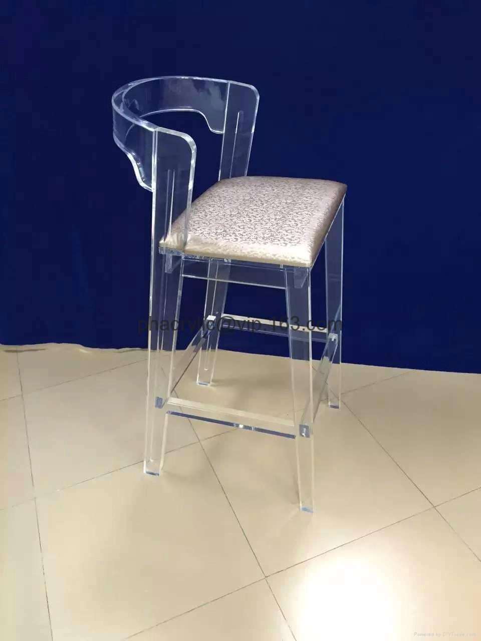 2015new design acrylic barstool ,plexiglass barstool 2