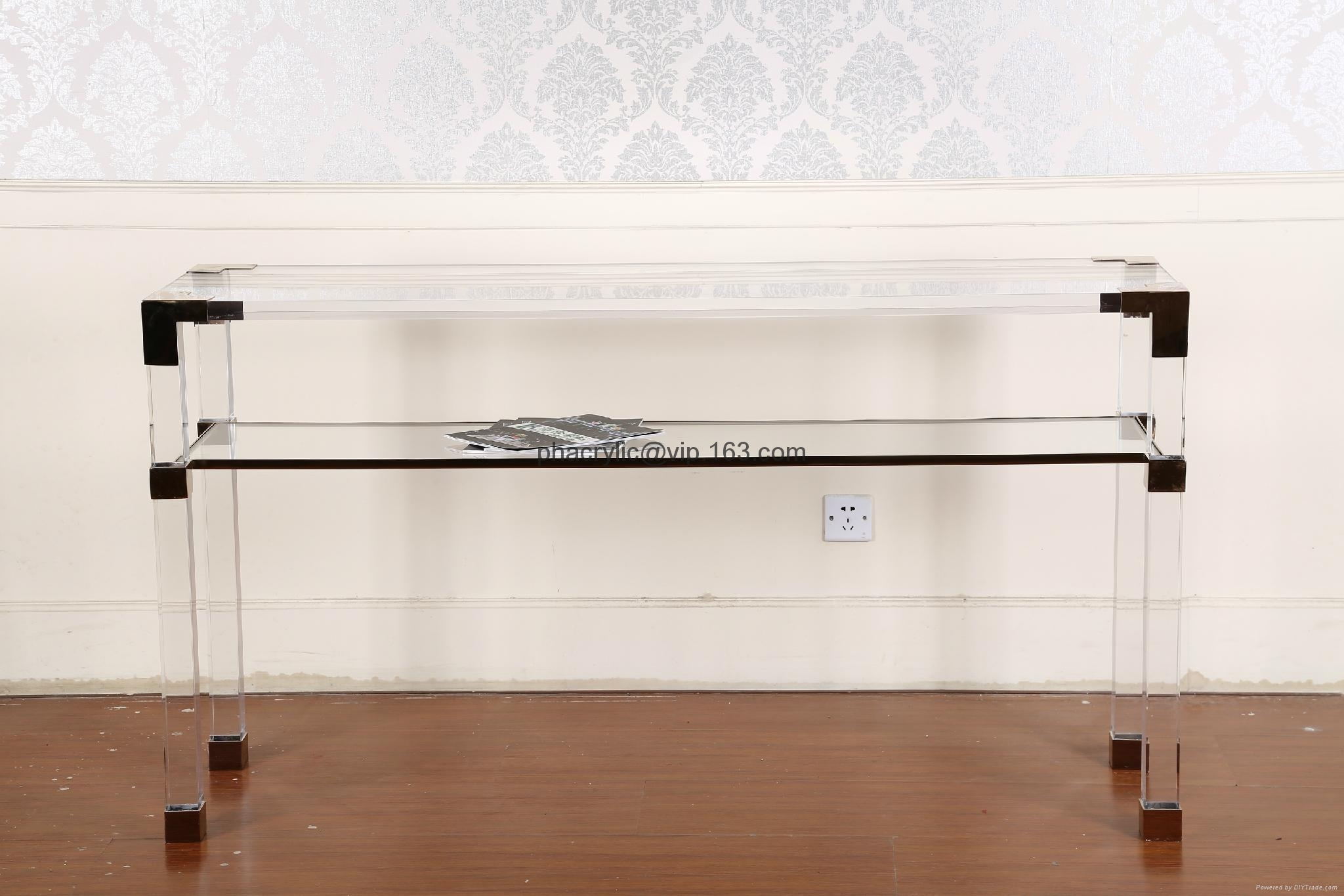 Perspex Wall Console Table