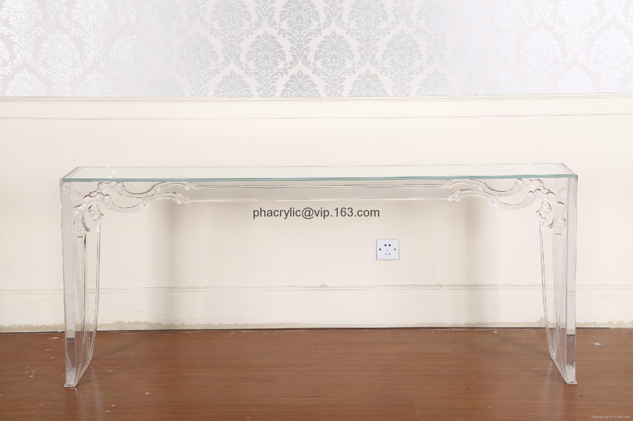 Acrylic Wall Console Table