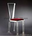 acrylic led chair, led wedding chair