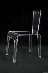 perpex glass dining chair , clear acrylic dining chair