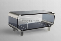 acrylic TV stand, plexiglass TV cabinet, lucite TV stand