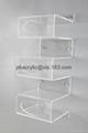 acrylic wall mounted display shelf, plexiglass shelf