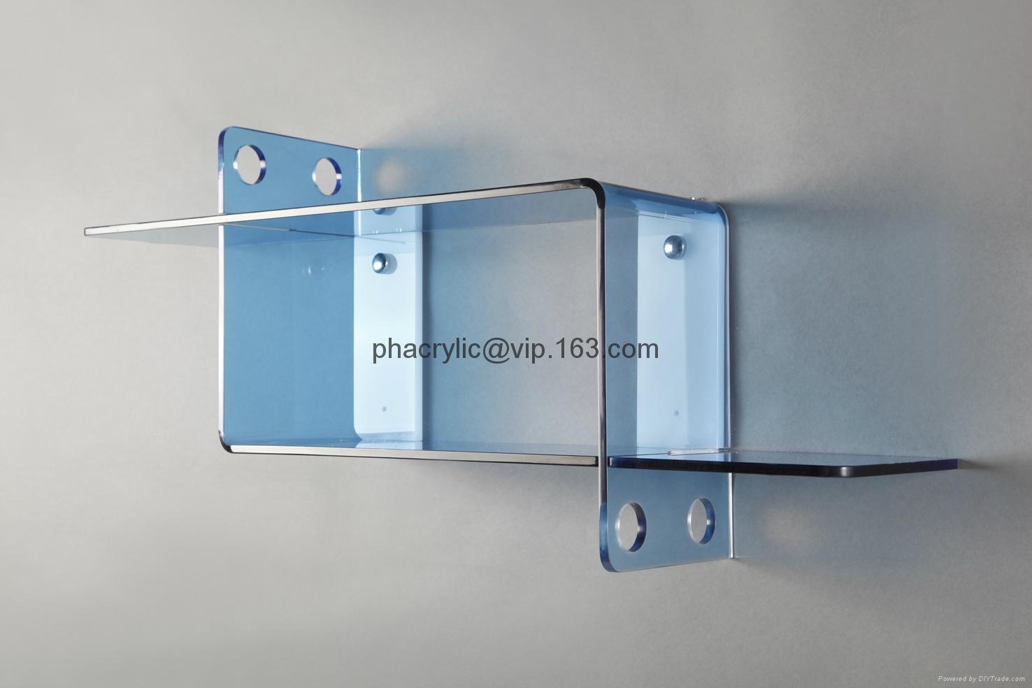 Acrylic Wall Mounted Display Shelf Plexiglas Wall Mounted