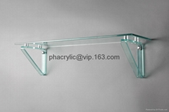 acrylic decoration display, acrylic wall mounted shelf