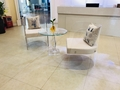 Clear Acrylic perspex curved arc dining chair  3