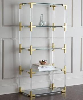 New design Metal and acrylic bookshelf display 3