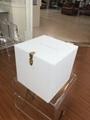 Acrylic cubic storage box with lock