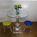 Acrylic Round Table perspex glass table