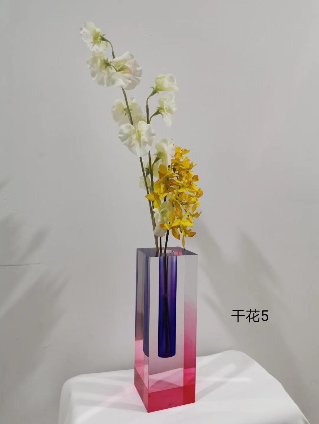亚克力渐变染色花瓶 3