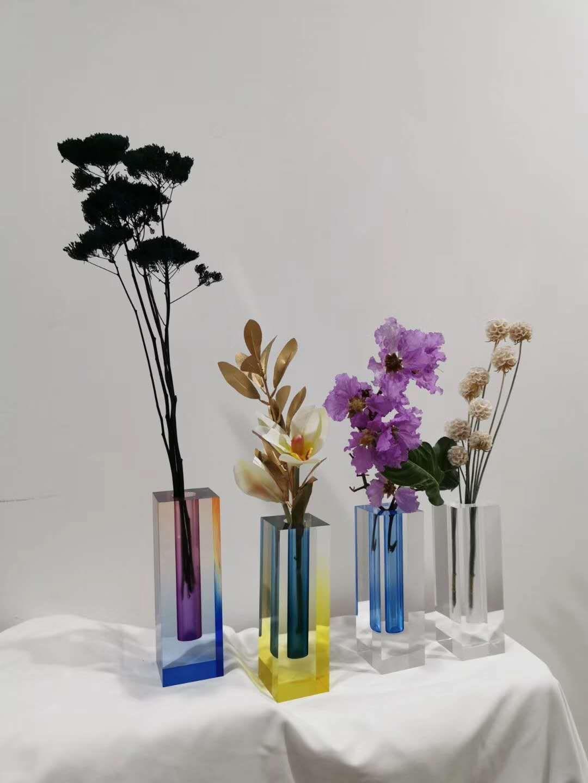 亞克力漸變染色花瓶 1
