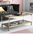 Stainless steel and Acrylic coffee table