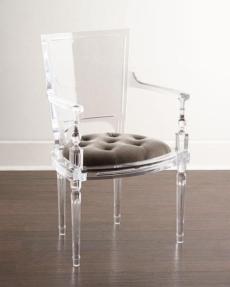 透明亞克力弧形靠背餐椅 1