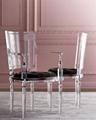 Acrylic plexiglass dining chair with armrest and backrest 3