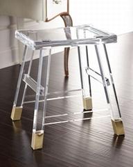 透明水晶亞克力凳