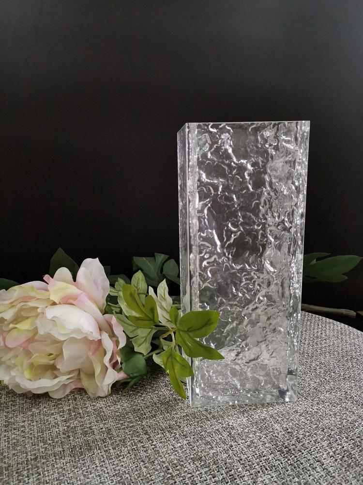 亞克力方口波紋花瓶 2