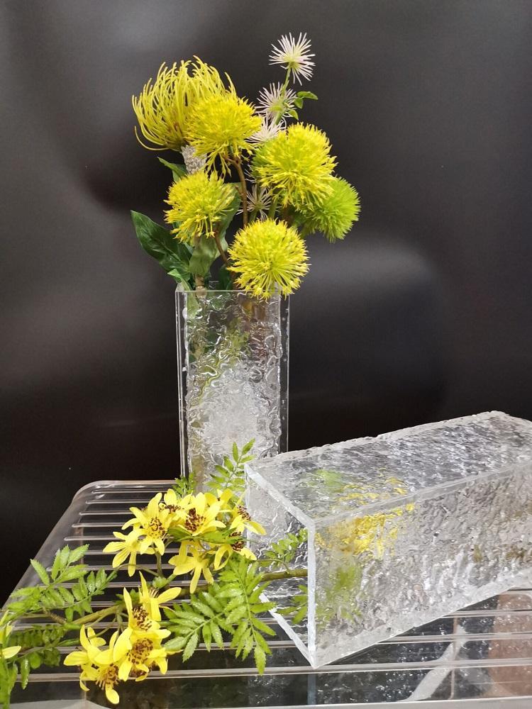 亞克力方口波紋花瓶 4