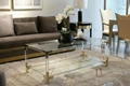 Stainless steel and Acrylic coffee table 4