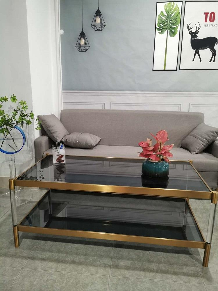 Stainless steel and Acrylic coffee table 2