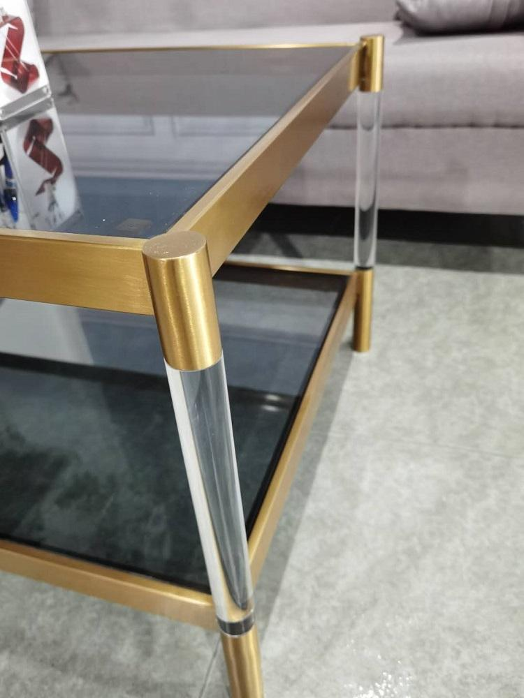 Stainless steel and Acrylic coffee table 3