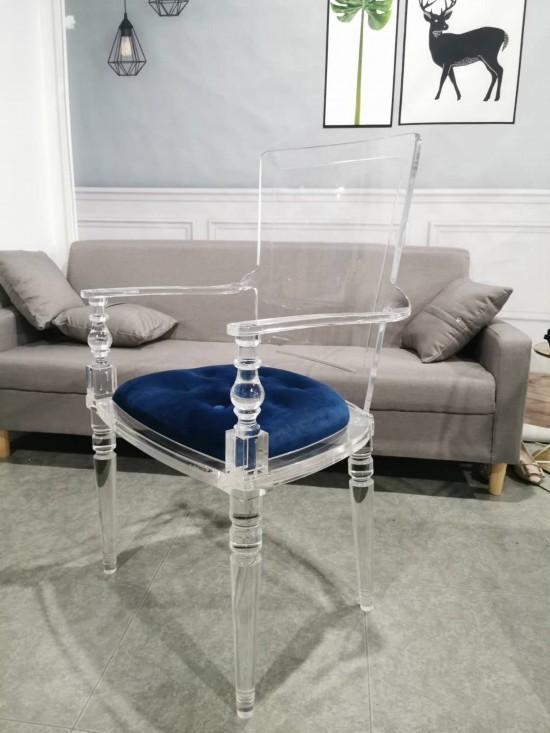 透明亞克力弧形靠背餐椅 4
