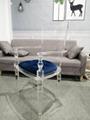 Acrylic plexiglass dining chair with armrest and backrest 4