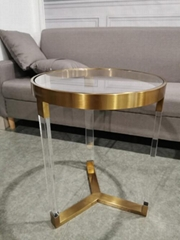 ACRYLIC ROUND SIDE TABLE, PLEXIGLASS SIDE TABLE, PERSPEX SIDE TABLE