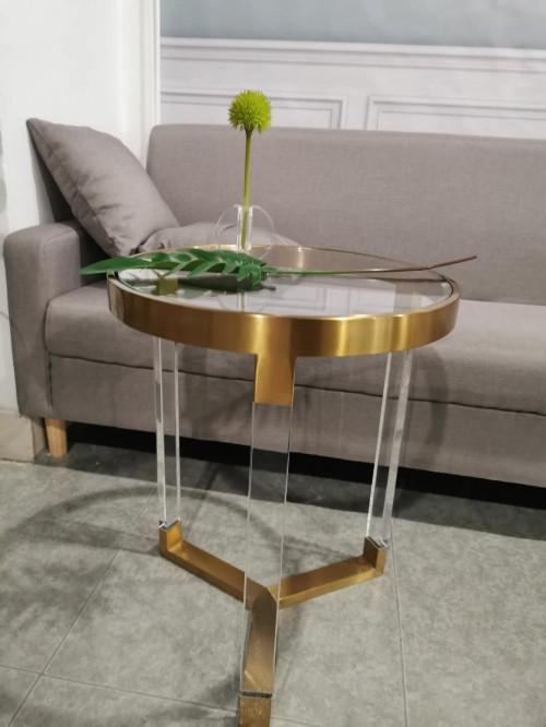 ACRYLIC ROUND SIDE TABLE, PLEXIGLASS SIDE TABLE, PERSPEX SIDE TABLE 4