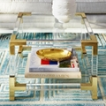 acrylic square coffee table with metal