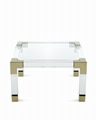acrylic square coffee table with metal parts  6