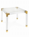 acrylic square coffee table with metal parts  8