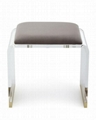perspex glass transparent stool with cushion 3