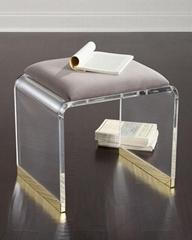 透明亚克力椅带软垫
