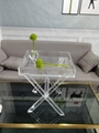 PLEXIGLASS ACRYLIC CLEAR  COFFEE TABLE